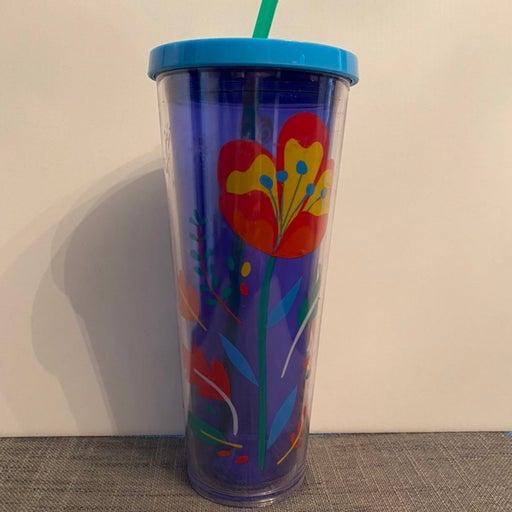 Starbucks Blue Tulip Tumbler