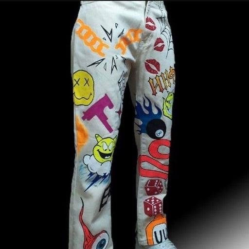 Custom Hand painted jeans