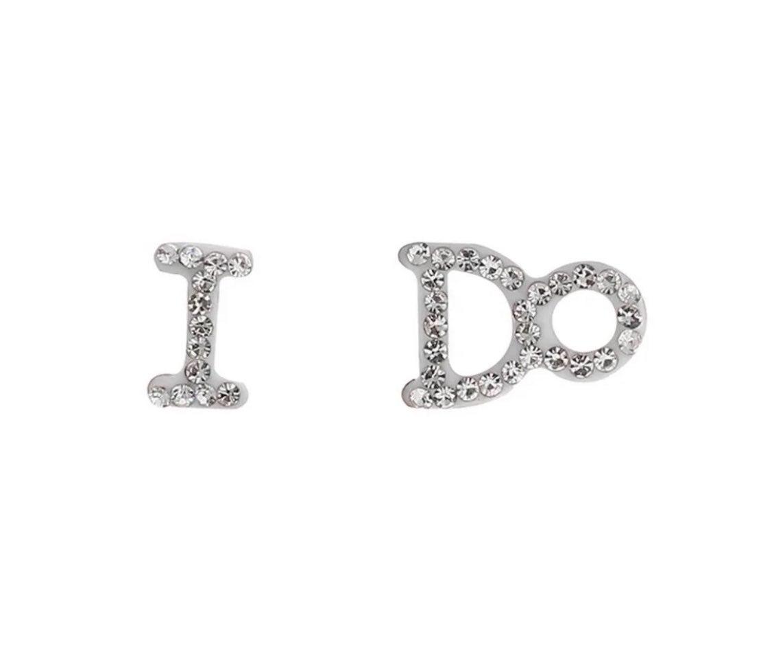 Diamond Stud Wedding Earrings NWT