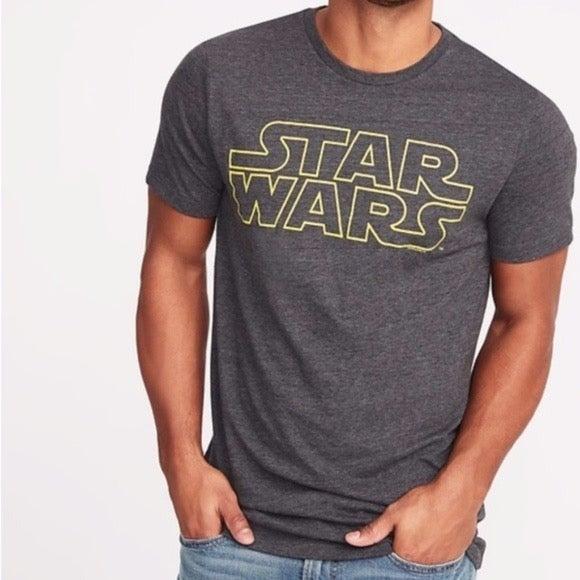 OLD NAVY Men's Star Wars Logo Gray Tee