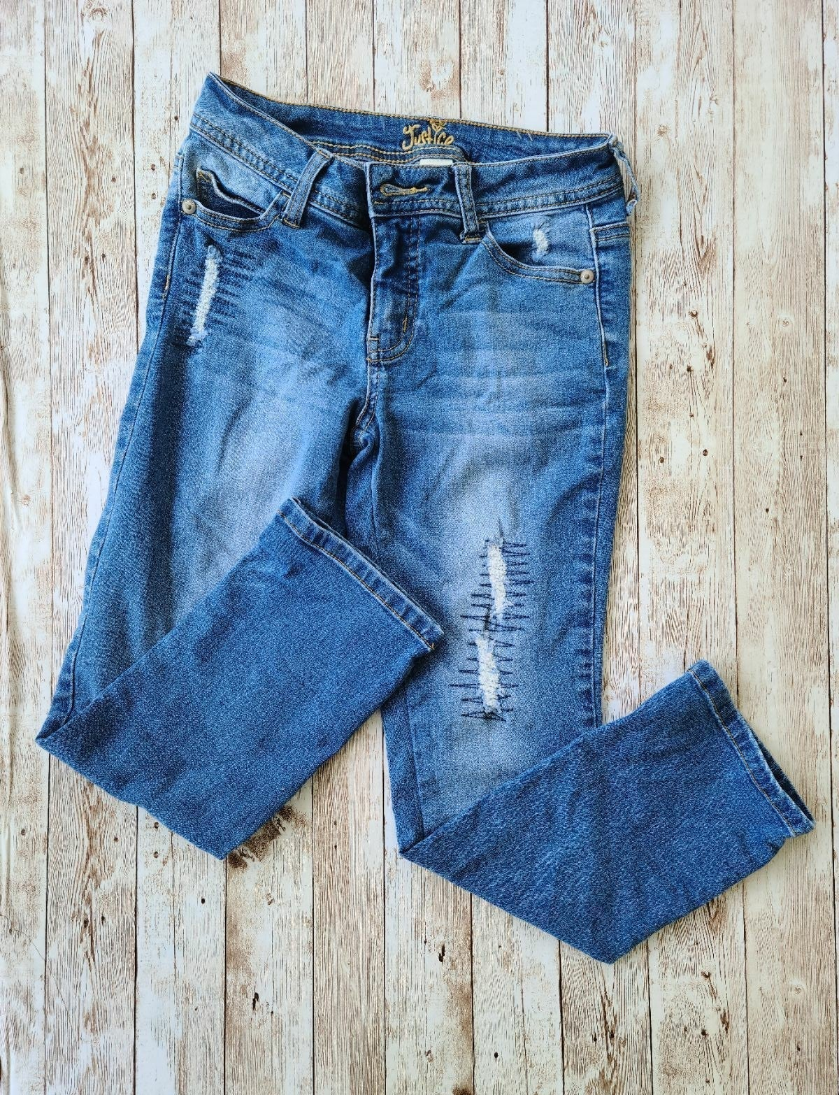 Justice Girls Distressed Jeans Girl's si