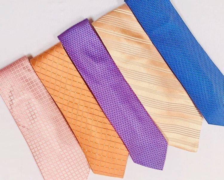 Lot of 5 Men's Spring/Summer Luxury Tie