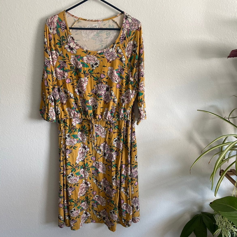 Latched Mama floral nursing dress