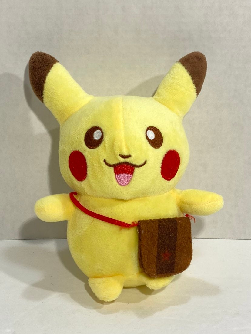 "8"" Pikachu With Satchel Pokemon Plush"