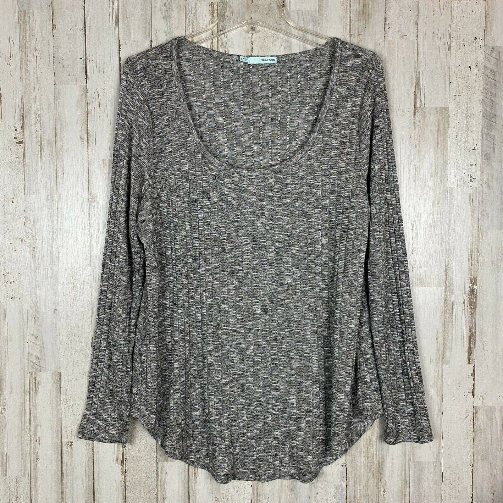 Maurices Sweater XL Scoop Neck Ribbed