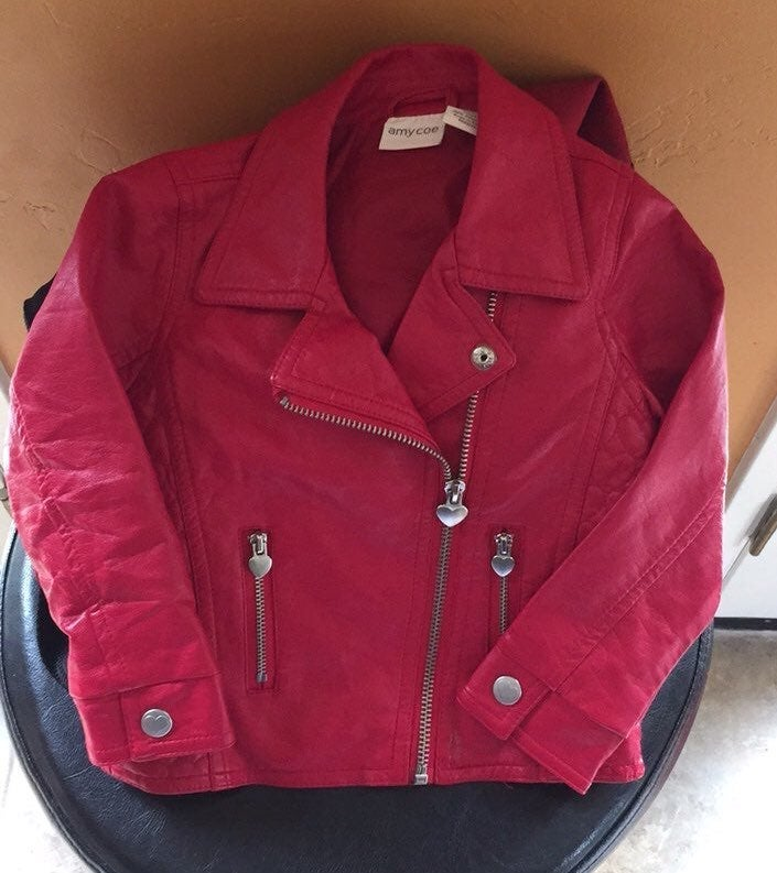amy coe red girls jacket