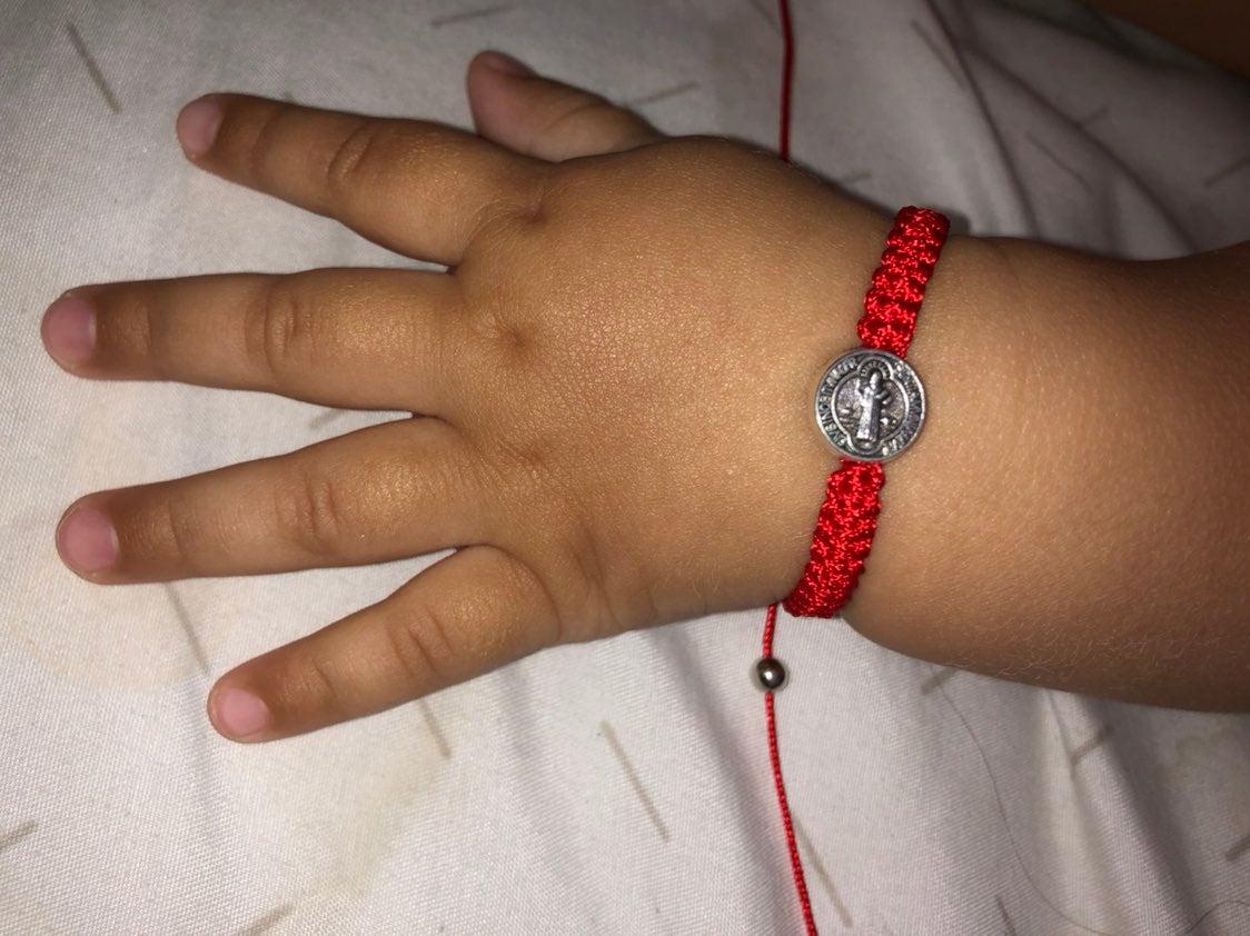 Baby red  bracelet St. Benedict