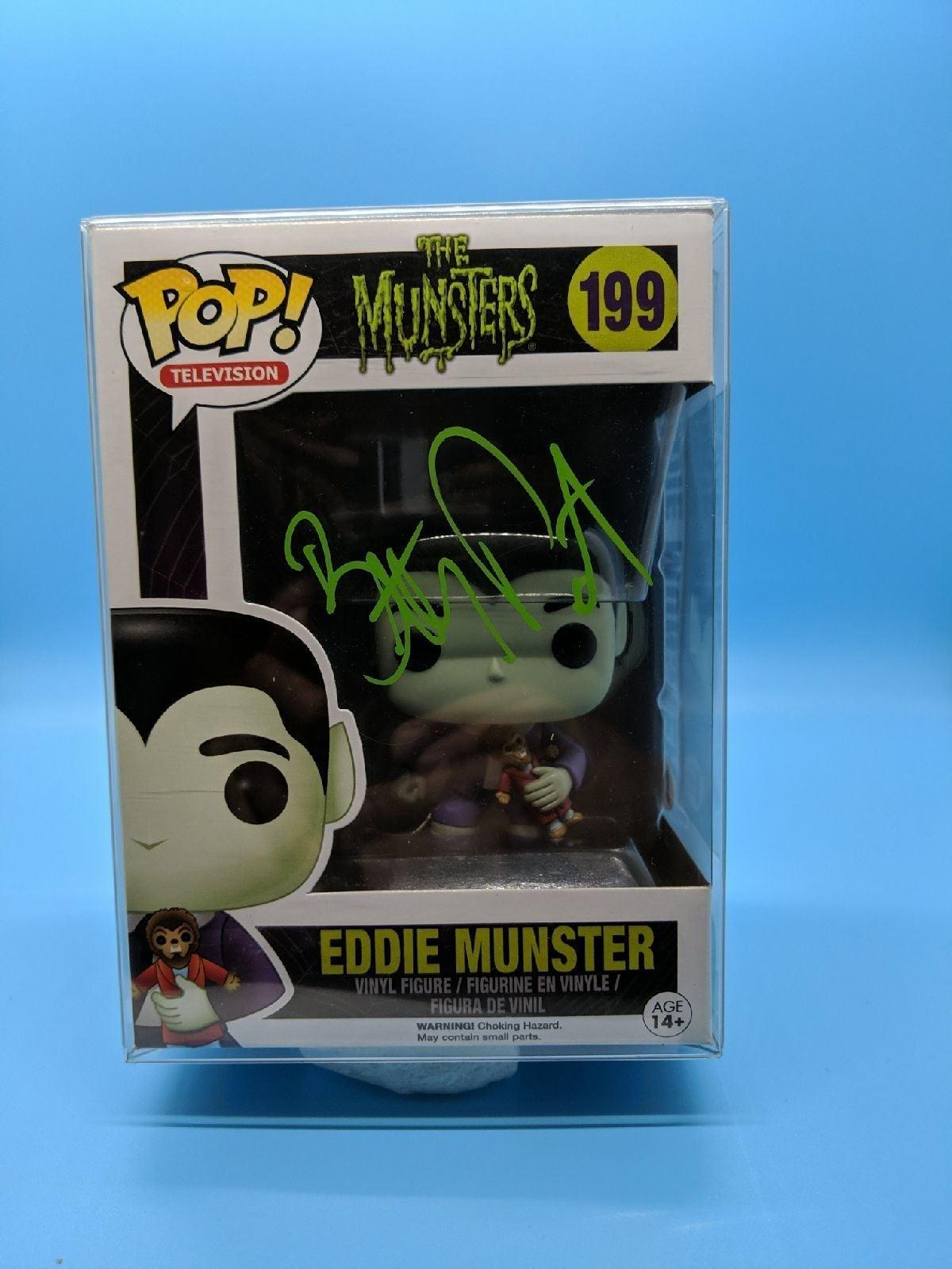 Funko Pop Eddie Munster Signed COA