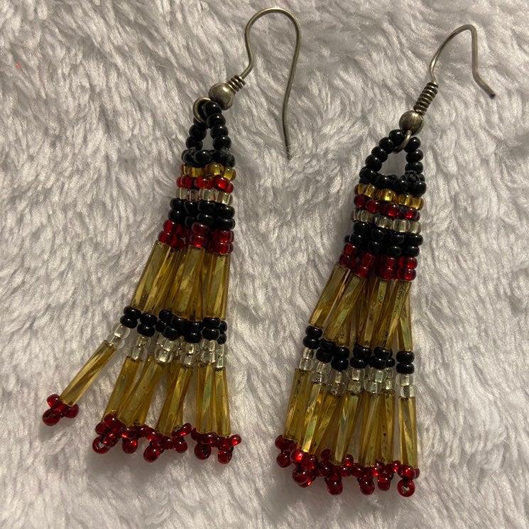 Handmade earth bead earrings