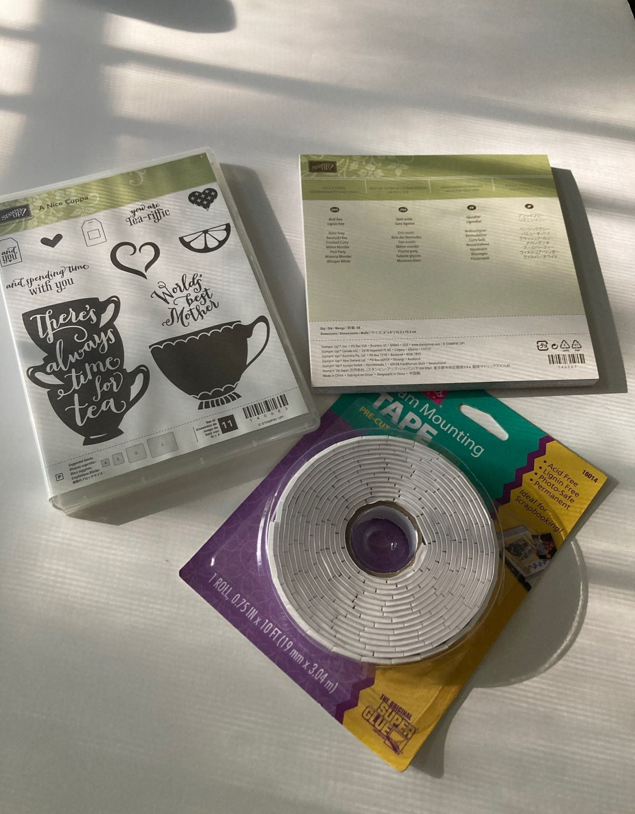 Stampin Up A NICE CUPPA bundle
