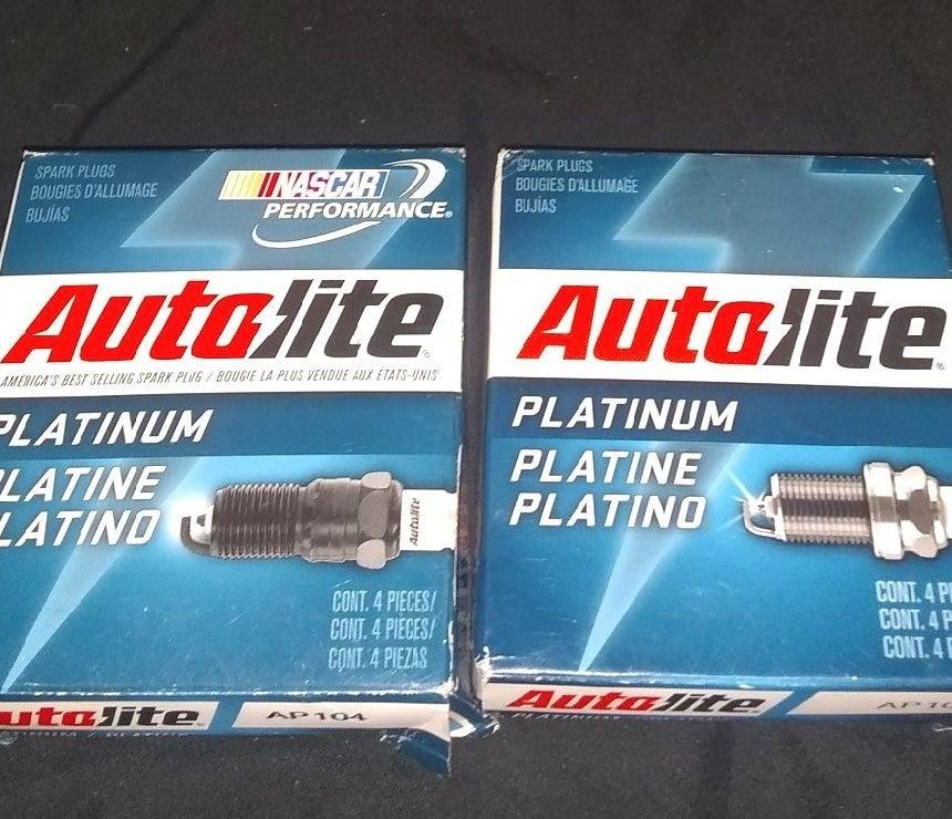 Autolite platinum spark plugs