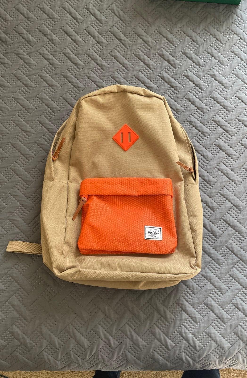 Herschel Supply Backpack (Tan&Orange)
