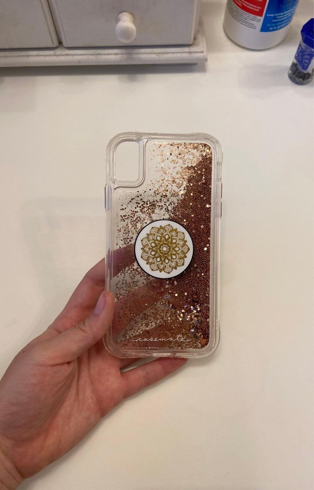 Casemate Glitter Clear Case Popsocket