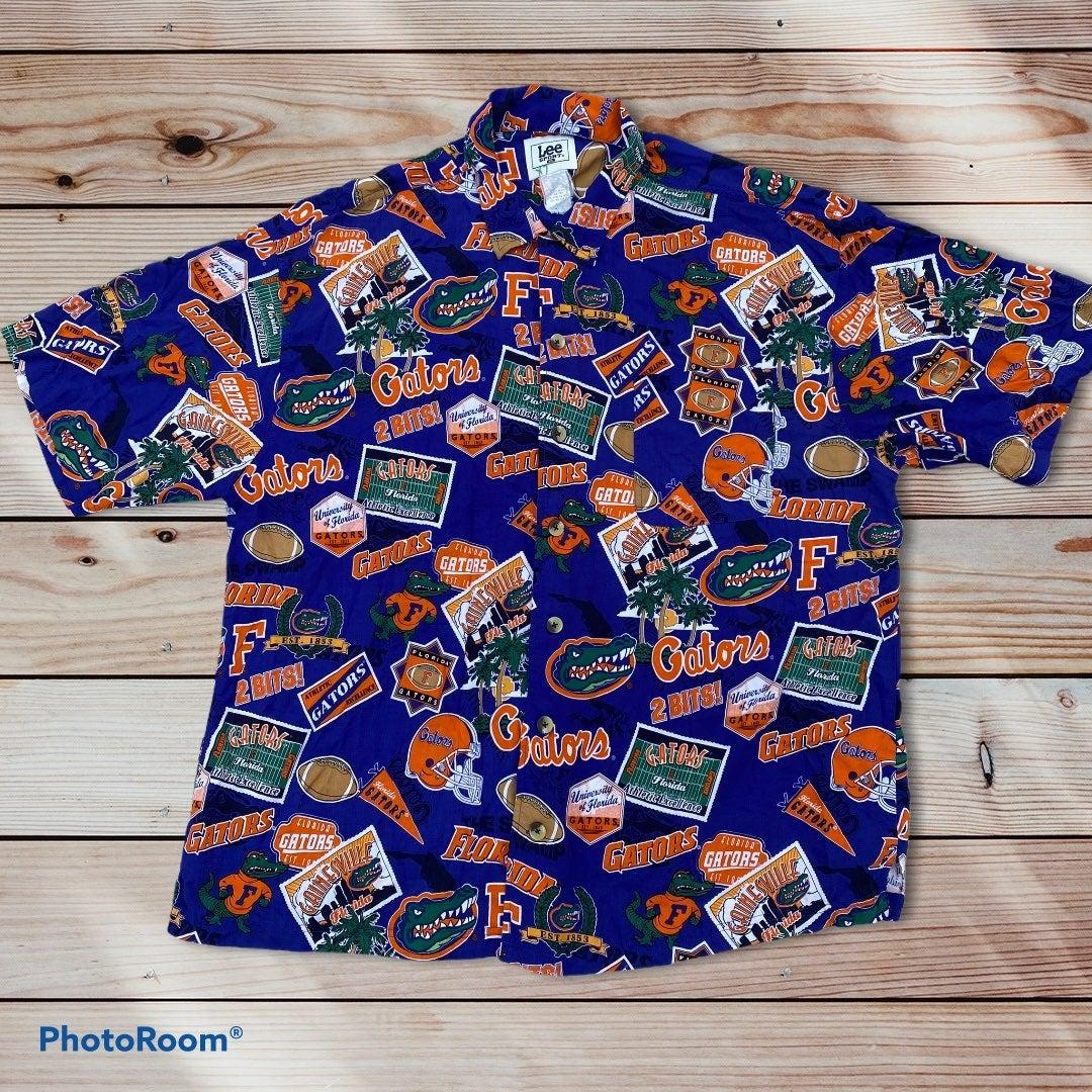 Vtg Florida Gators Lee Hawaiian Shirt