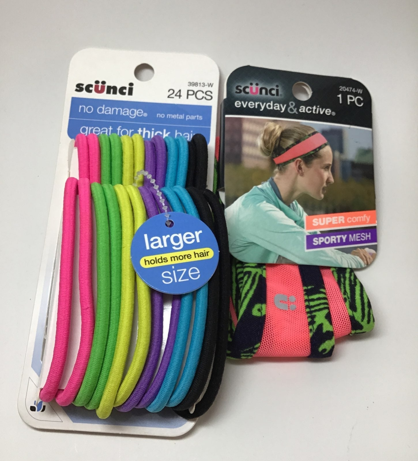 Bundle of scunci hair ties and sport hai