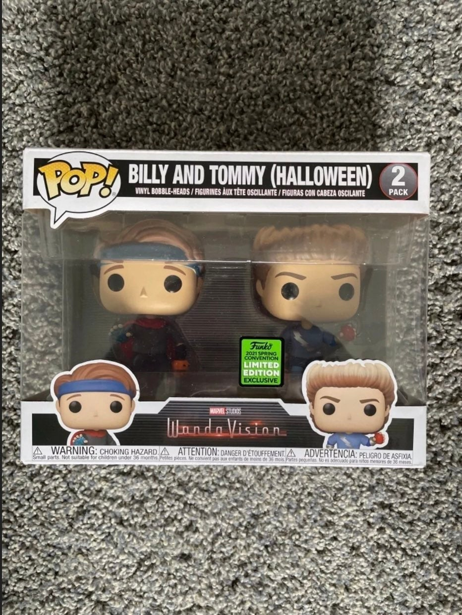 ECCC Billy and Tommy Funko Pop Wanda New
