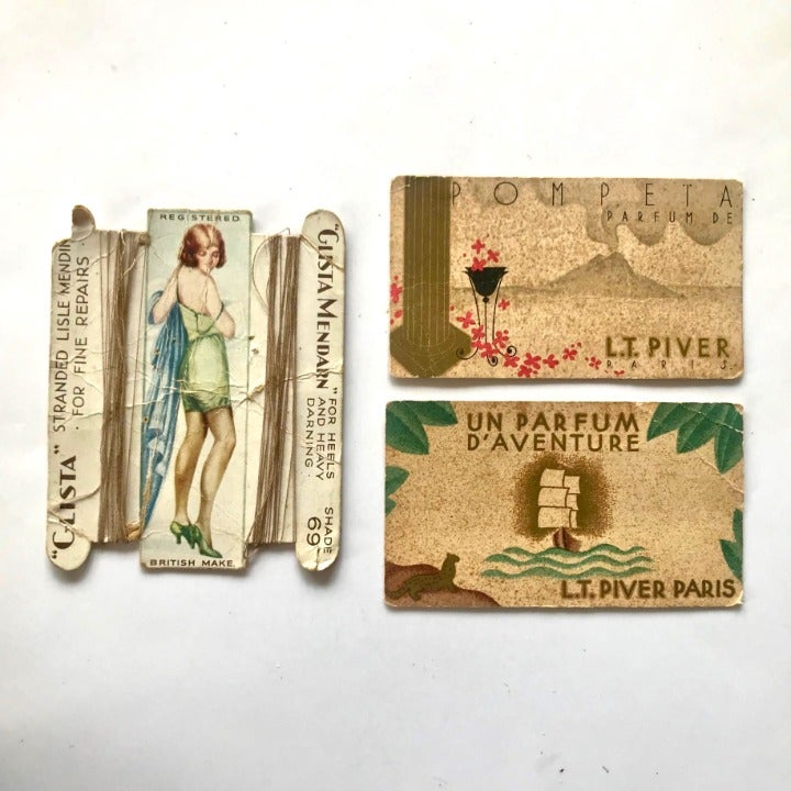 Ephemera Sewing, Perfume, Cards