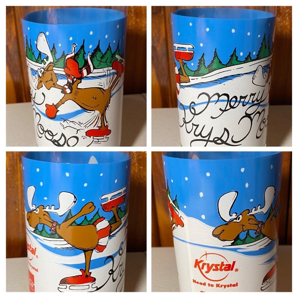 Krystal COKE Holiday Promo Glass Moose