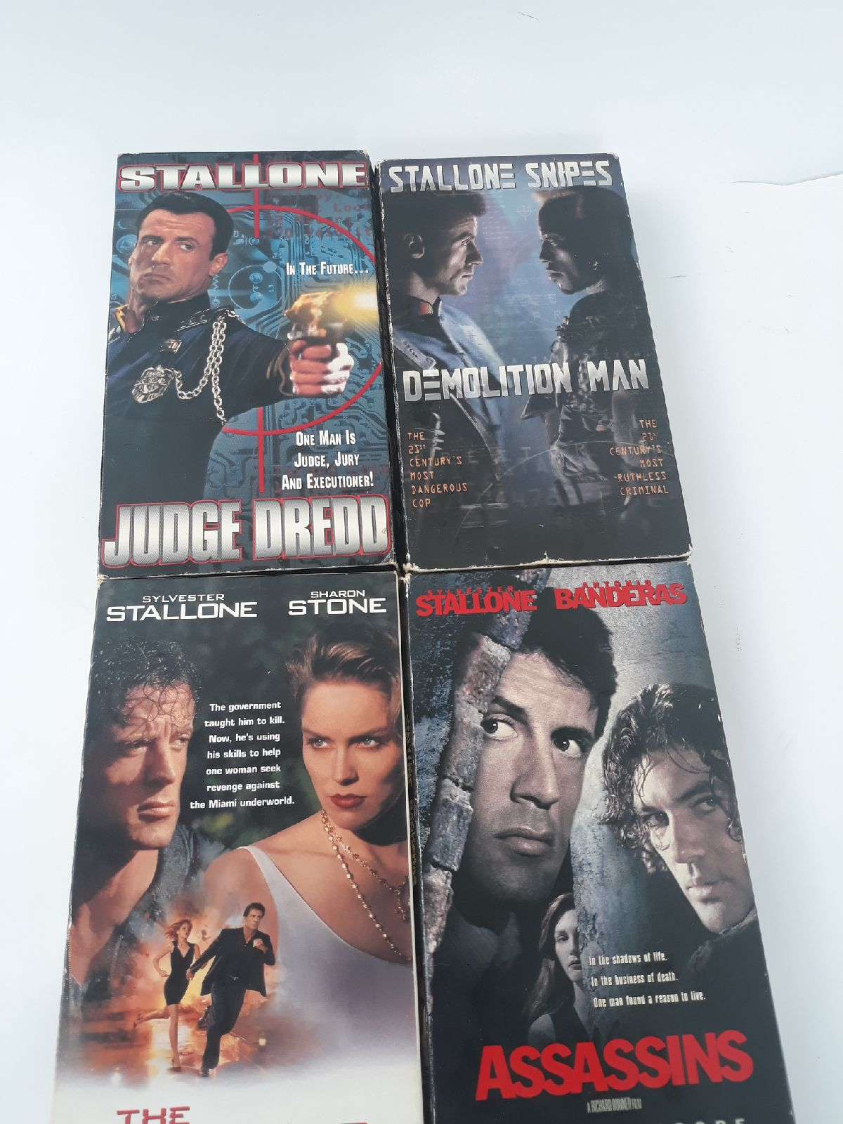 VHS Bundle Sylvester Stallone 4 movies