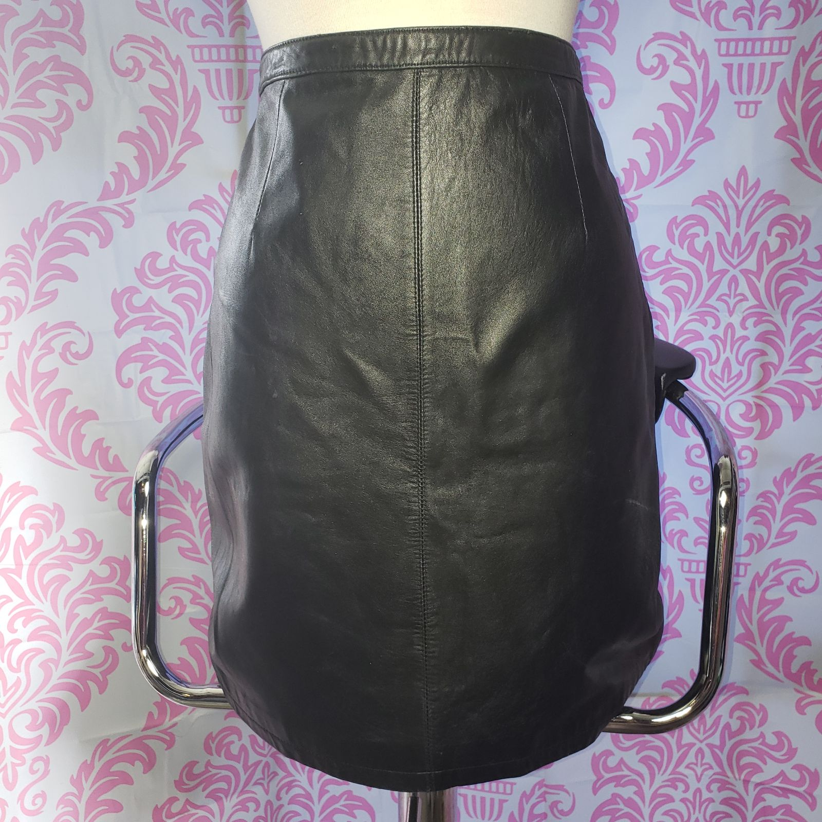 Separate Ellements Black Leather Skirt