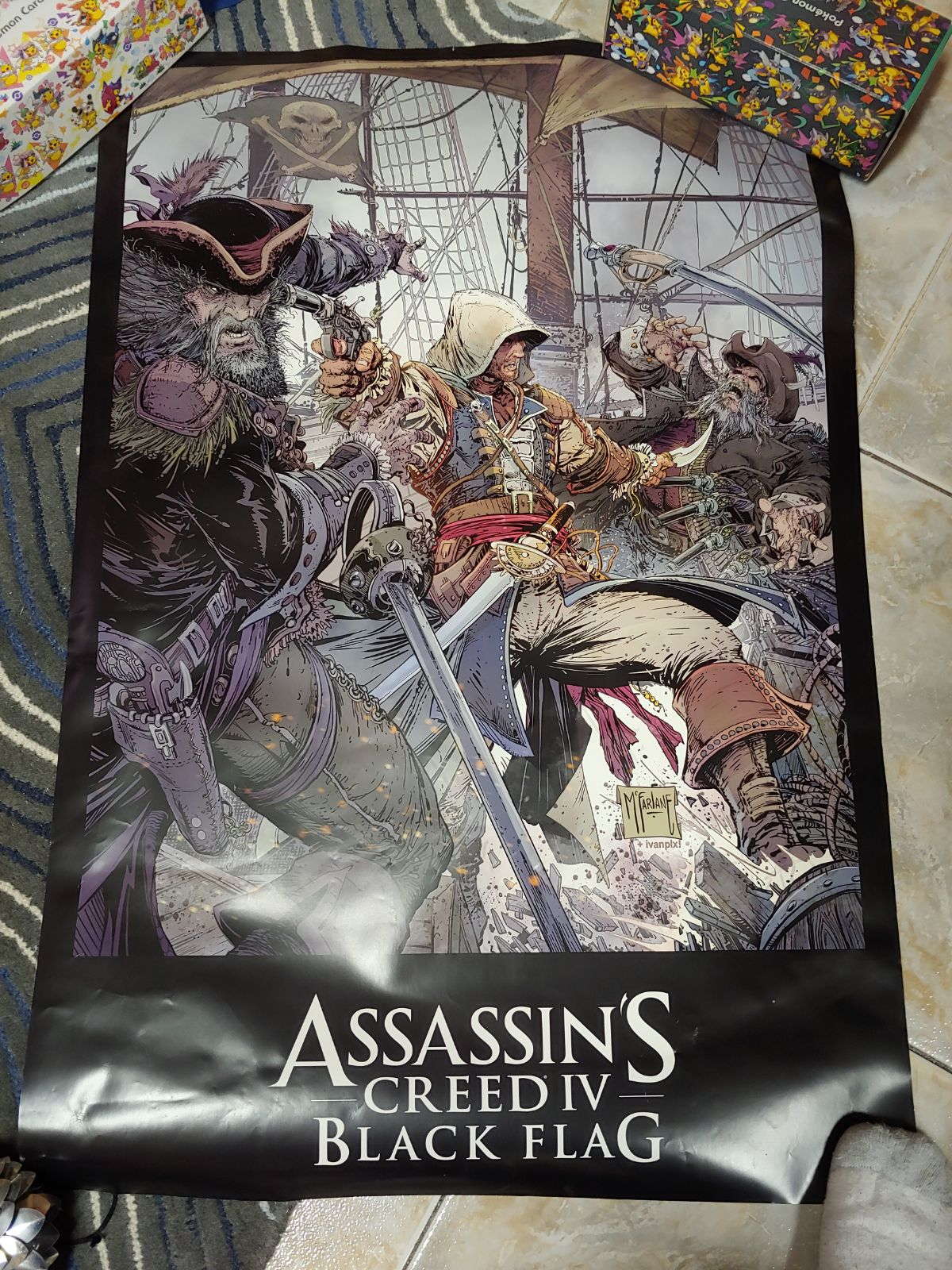 Friend's AC Black Flag 2-Sided Poster