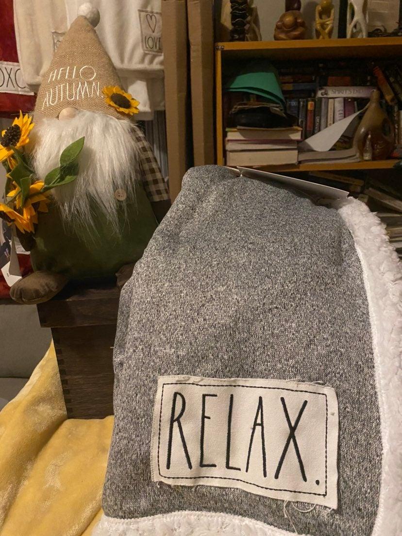 Rae Dunn Sherpa Relax blanket