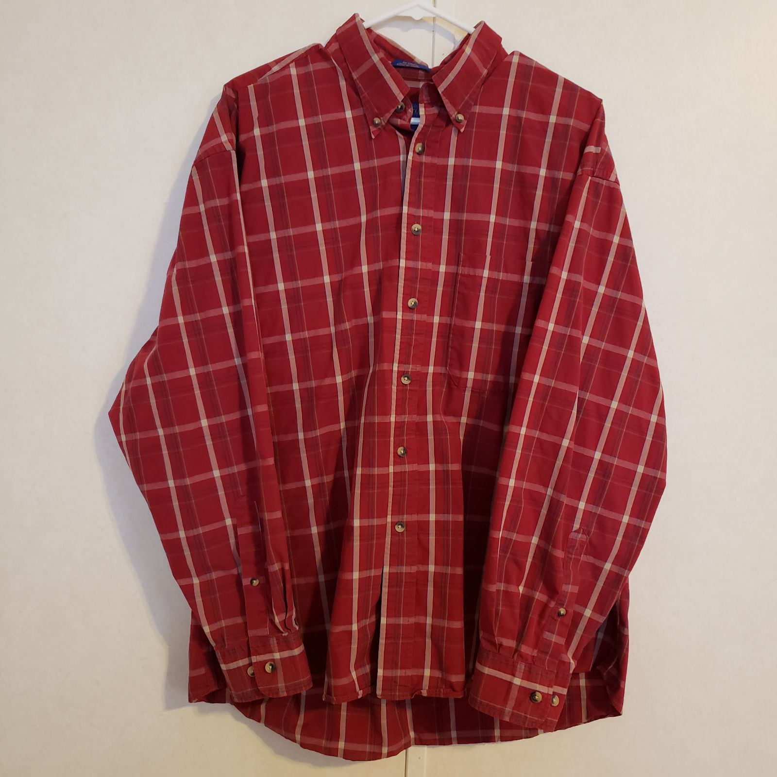 Pendleton Red Plaid Button-down XL
