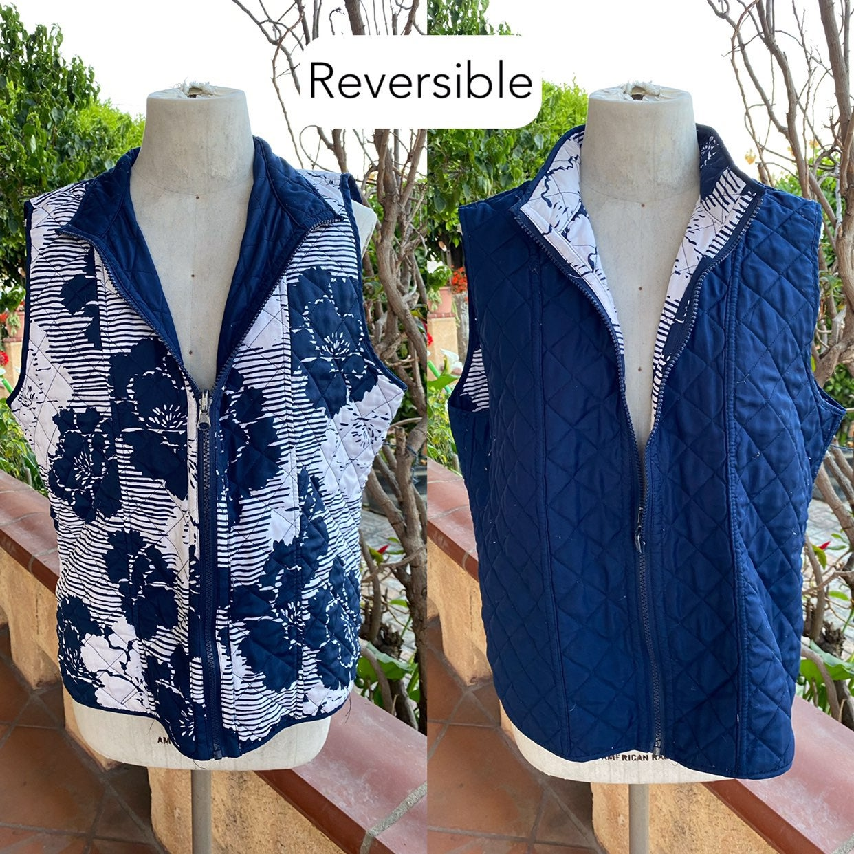 Alfred Dunner Reversible Vest