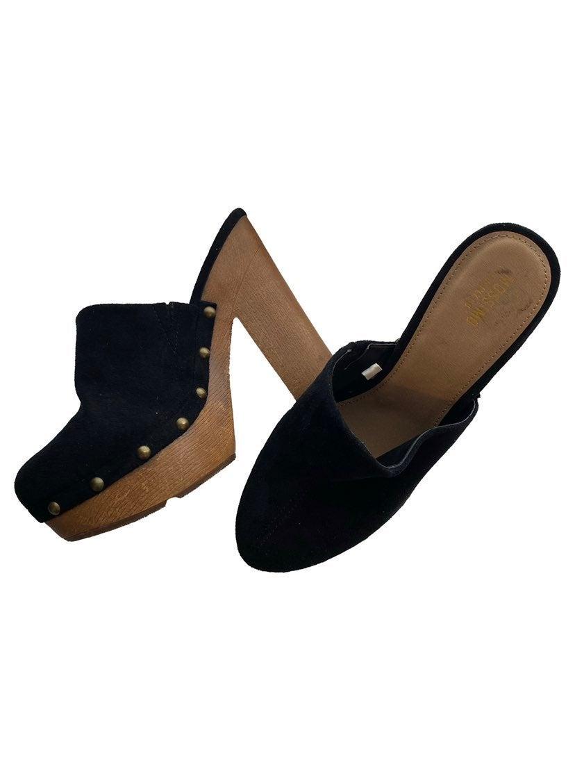 Mossimo black platform clog heels
