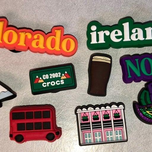 NOLA Colorado and Ireland Crocs Jibbitz