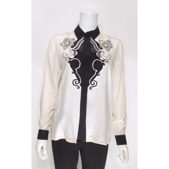 Suqzelle Silk Blouse Size 4