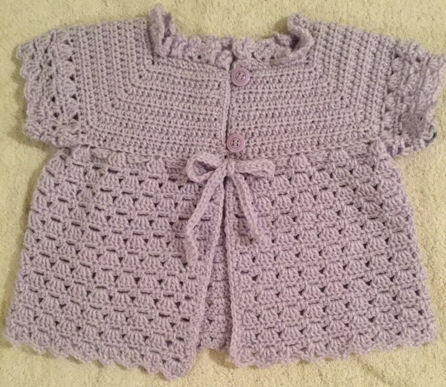 Crocheted baby jacket, 12 months