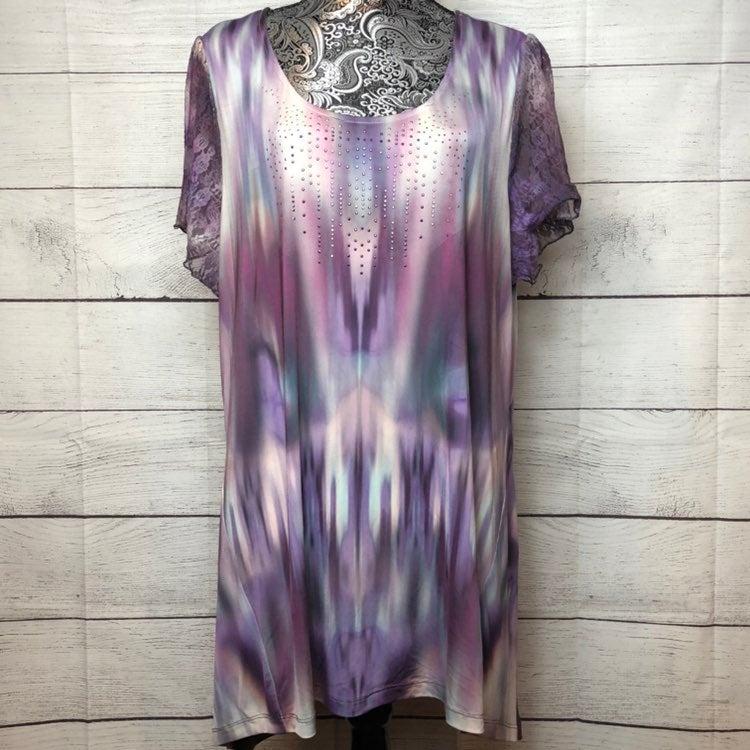 one world tie dye long blouse