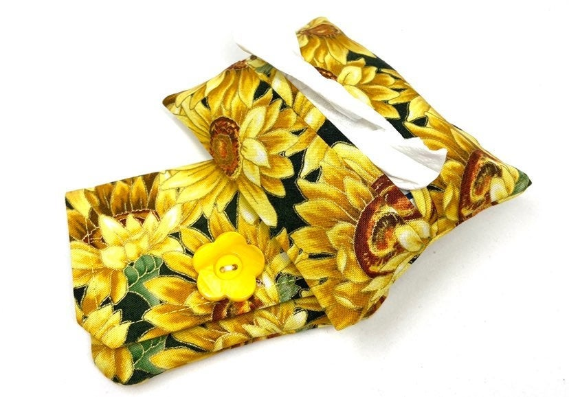 Sunflower Fabric Wallet/Tissue Holder