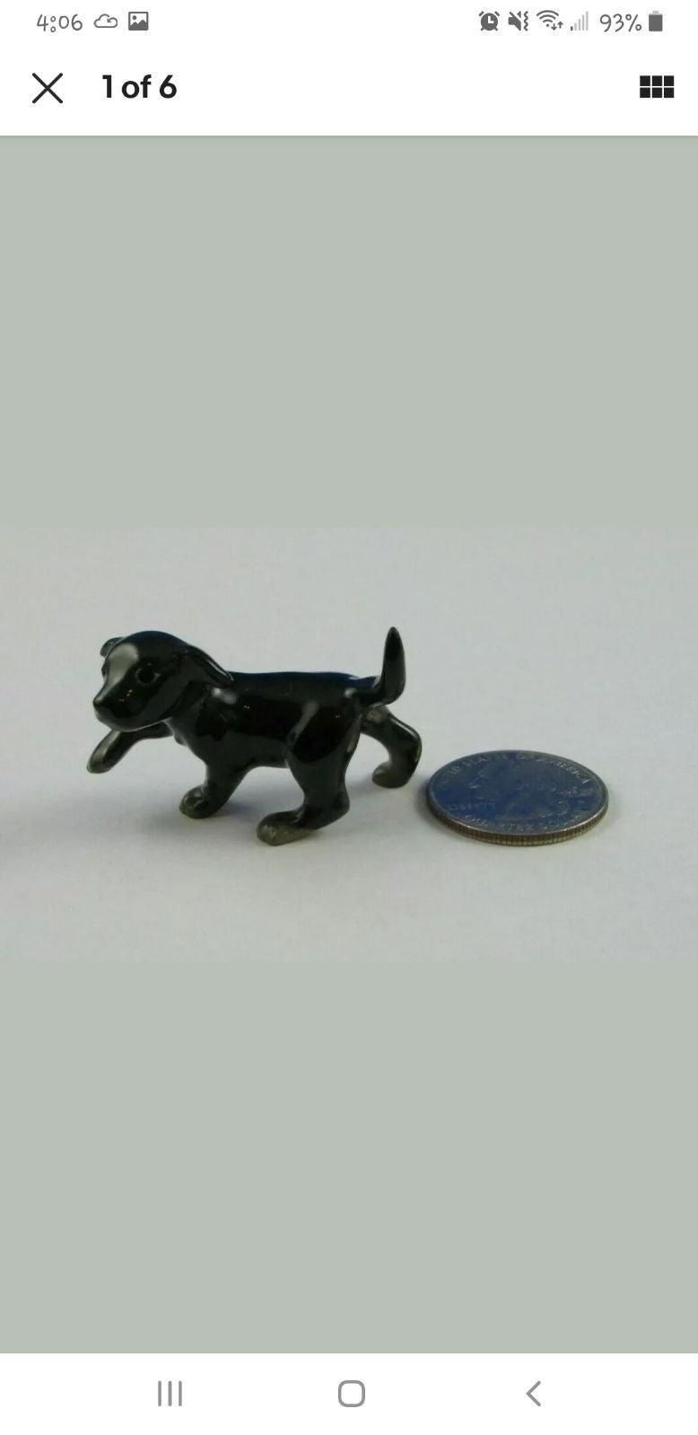 Hagen Renaker Black Labrador Retriever L