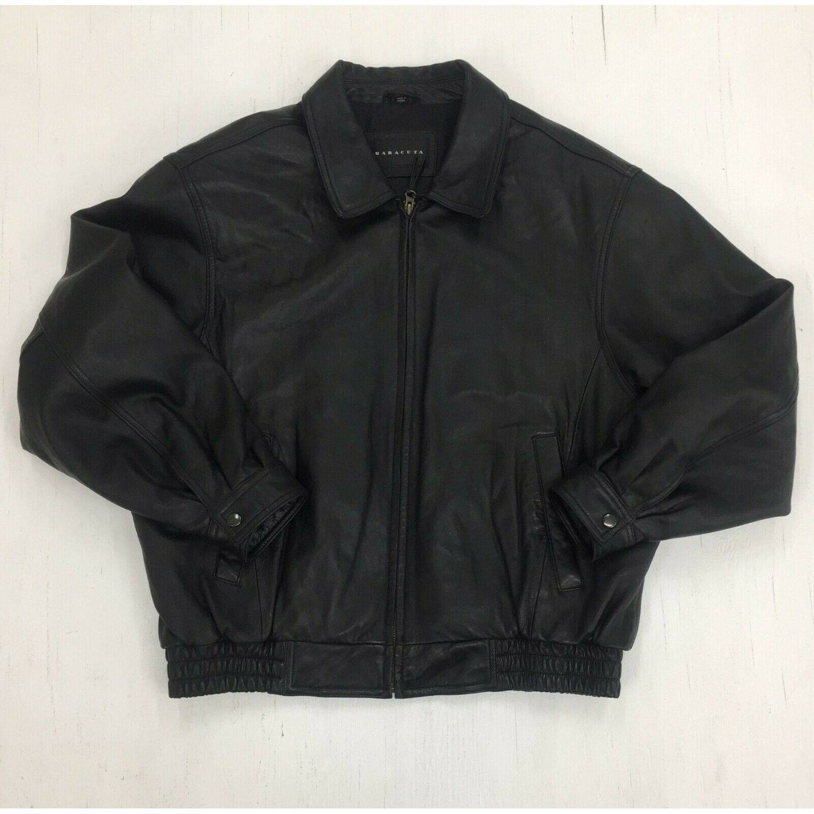 Baracuta Leather Motorcycle Jacket L