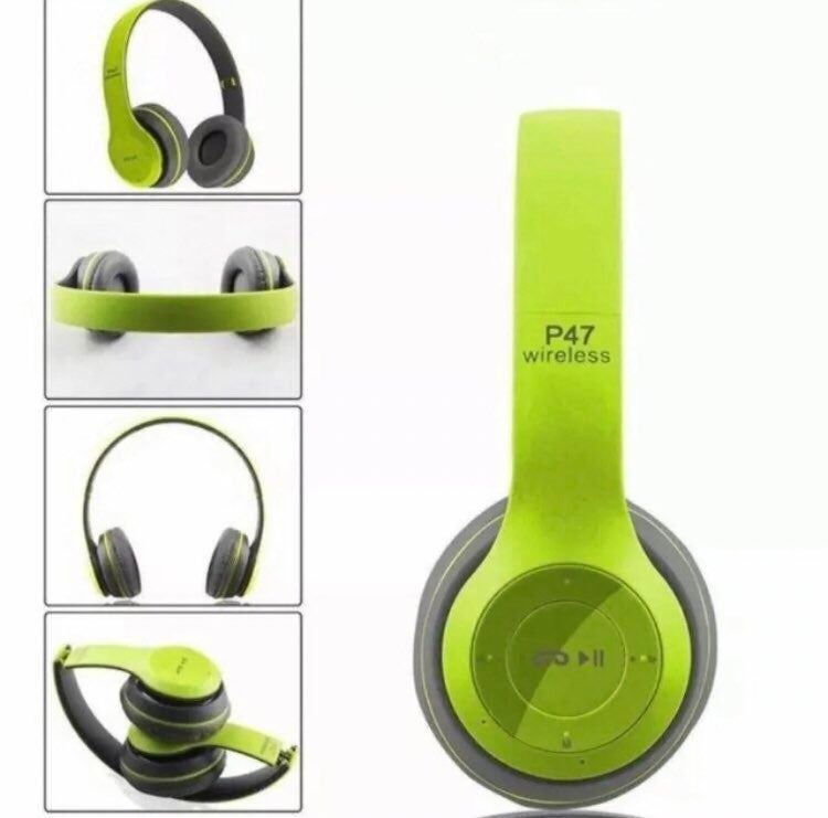 New green Wireless Bluetooth Headphones