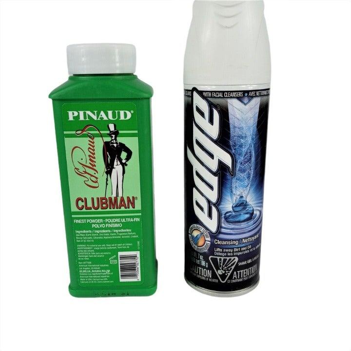 Pinaud Clubman Powder + Edge Shave Gel