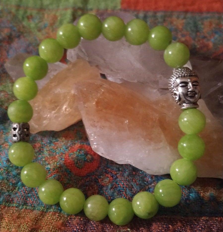 Jade and budda stretch bracelet