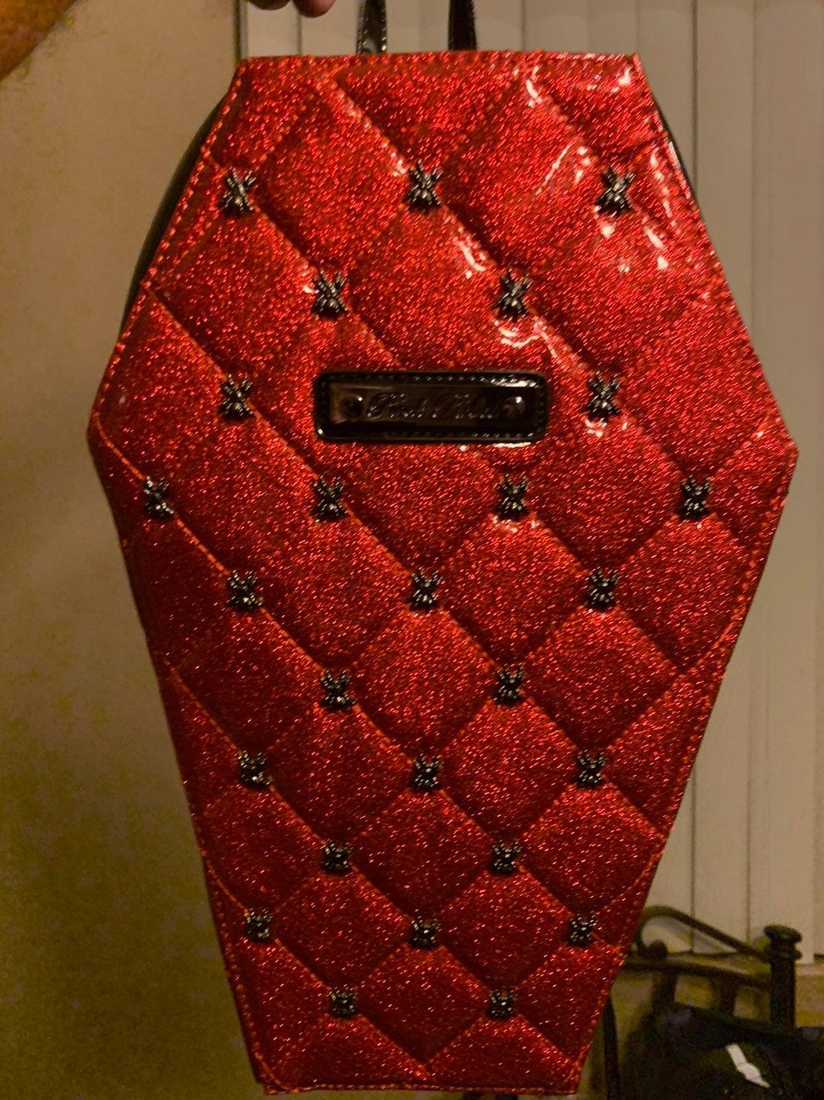 Rock rebel  coffin backpack