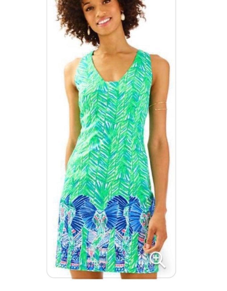Lilly Pulitzer Green Elephant Dress 4