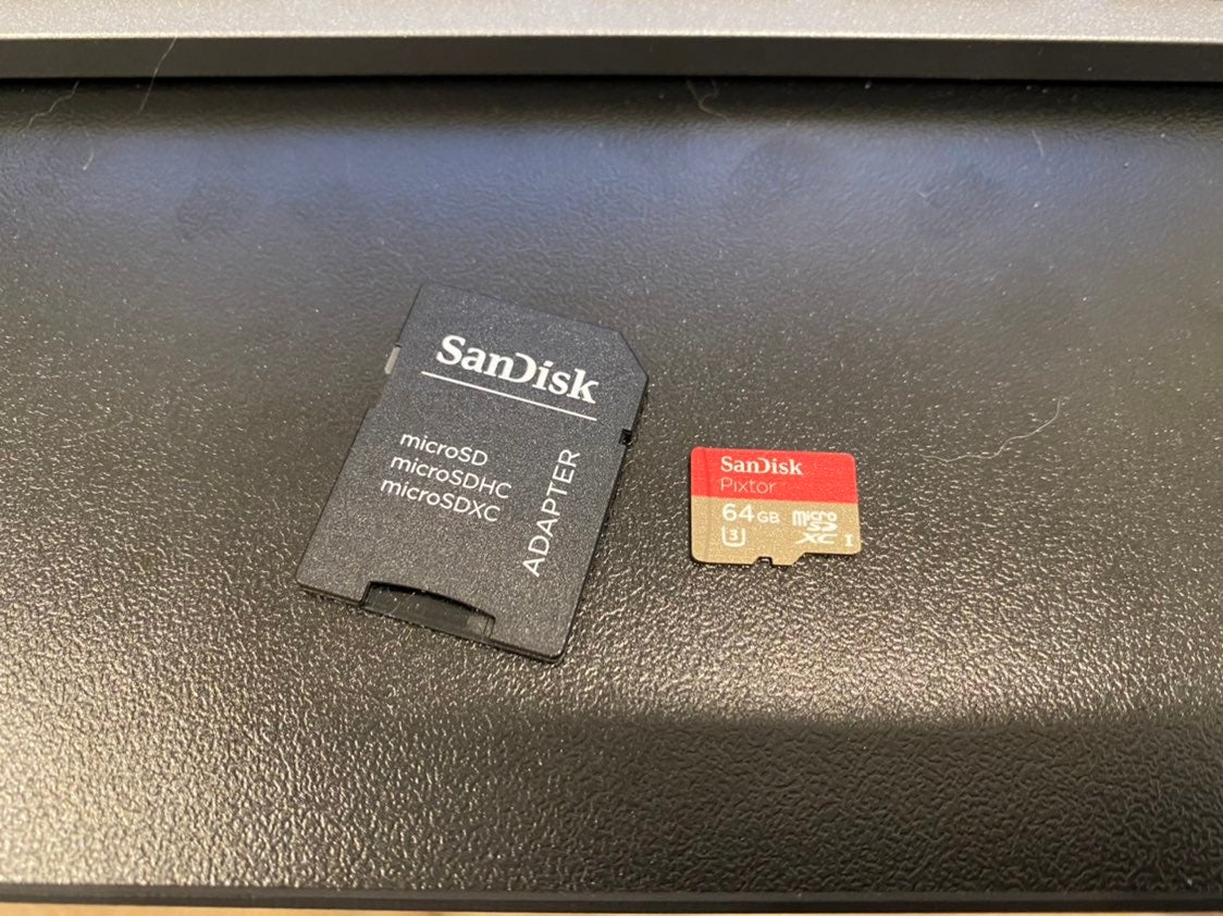 Sandisk 64GB Micro SD Card with SD Adapter