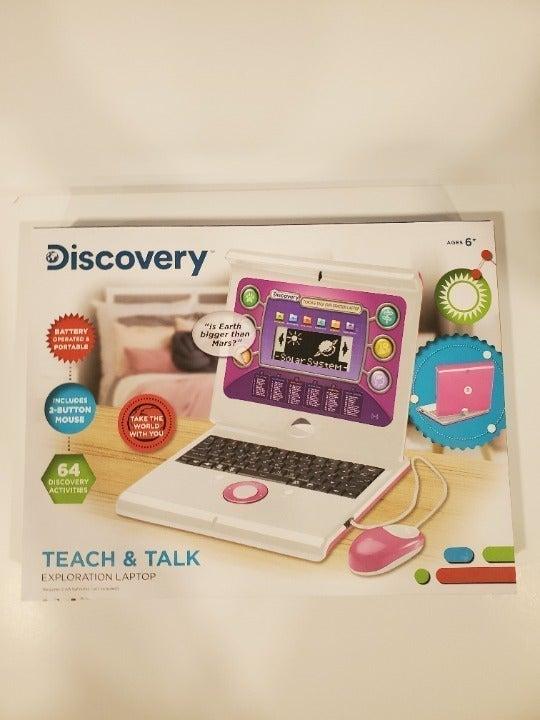 Discovery Kids Teach & Talk Laptop Pink