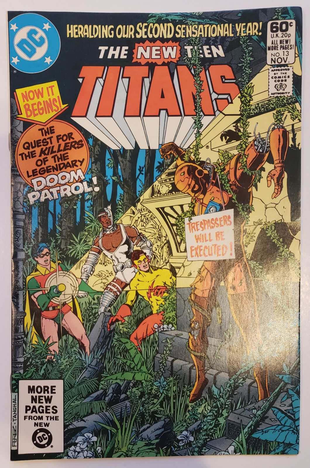 The new teen titans 13 DC 1981