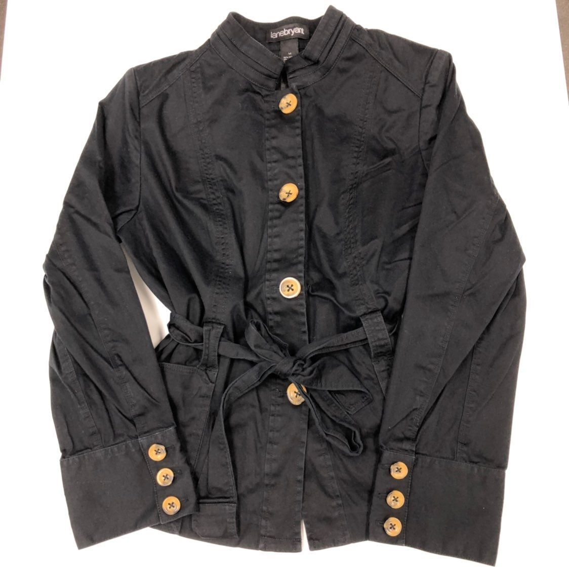 Lane Bryant Black Button Coat Jacket