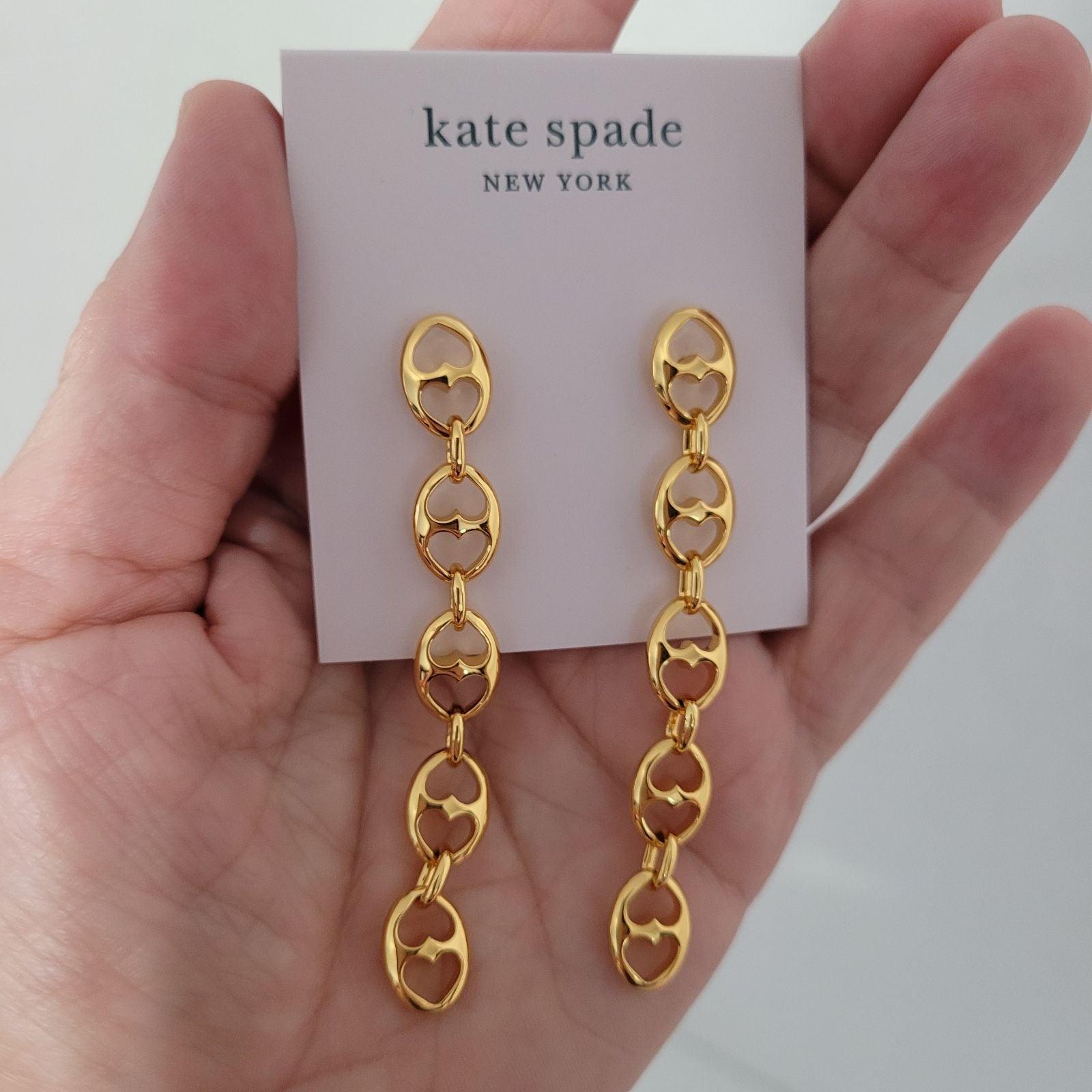 Kate Spade Duo Link Linear Drop Earrings