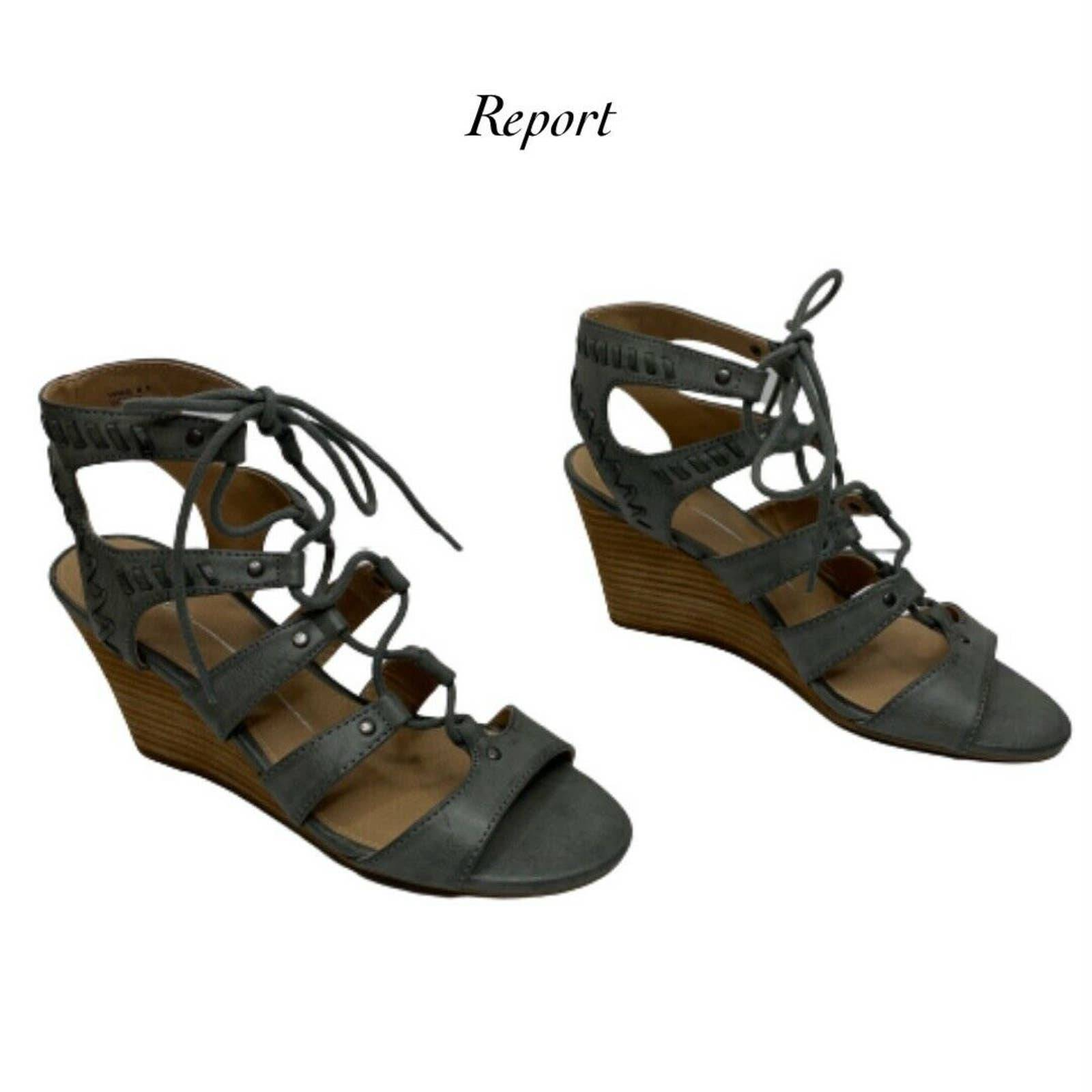 Report Scout Gray Wedge Sandals Size 8.5