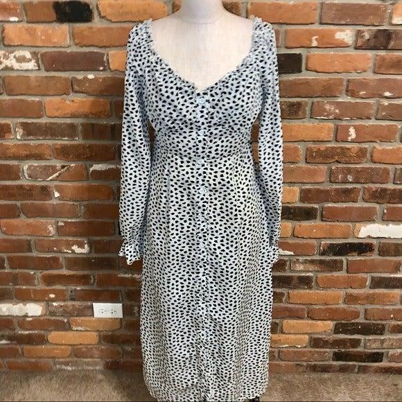 Missguided Button Milkmaid Midi Dress 6