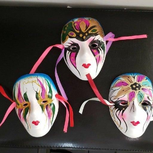 Mardi Gras Ceramic Masks