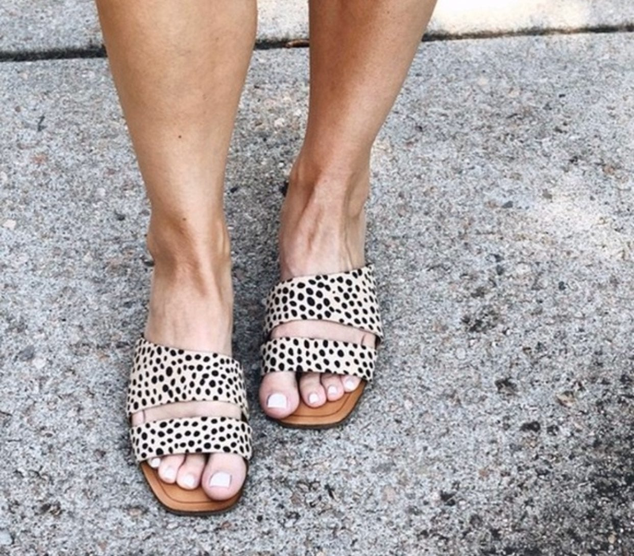 dolce vita cheetah slides